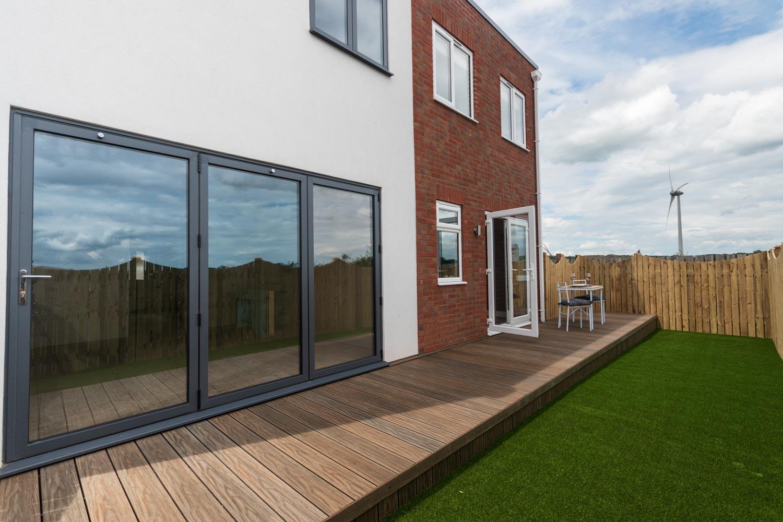 Modular homes - M-AR off-site Show home - Melton - external rear view bifold doors