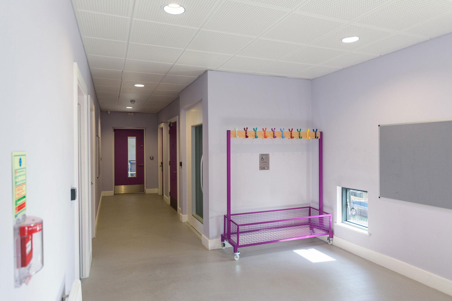 Drumbet School and ASD 6th Form teaching - Modular SEN building internal DDA lift and corridor