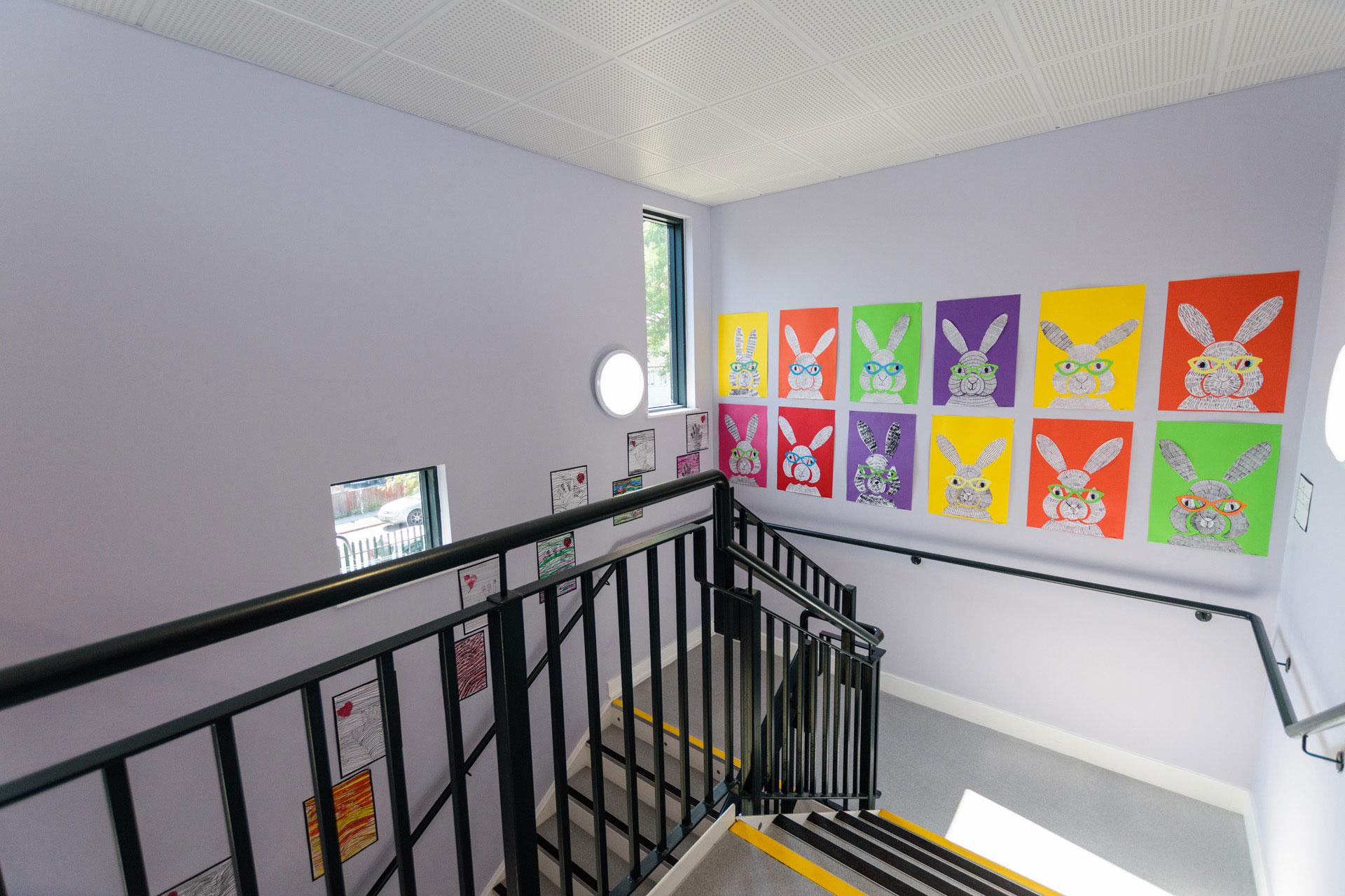 Drumbet School and ASD 6th Form teaching - Modular SEN building internal DDA stairway