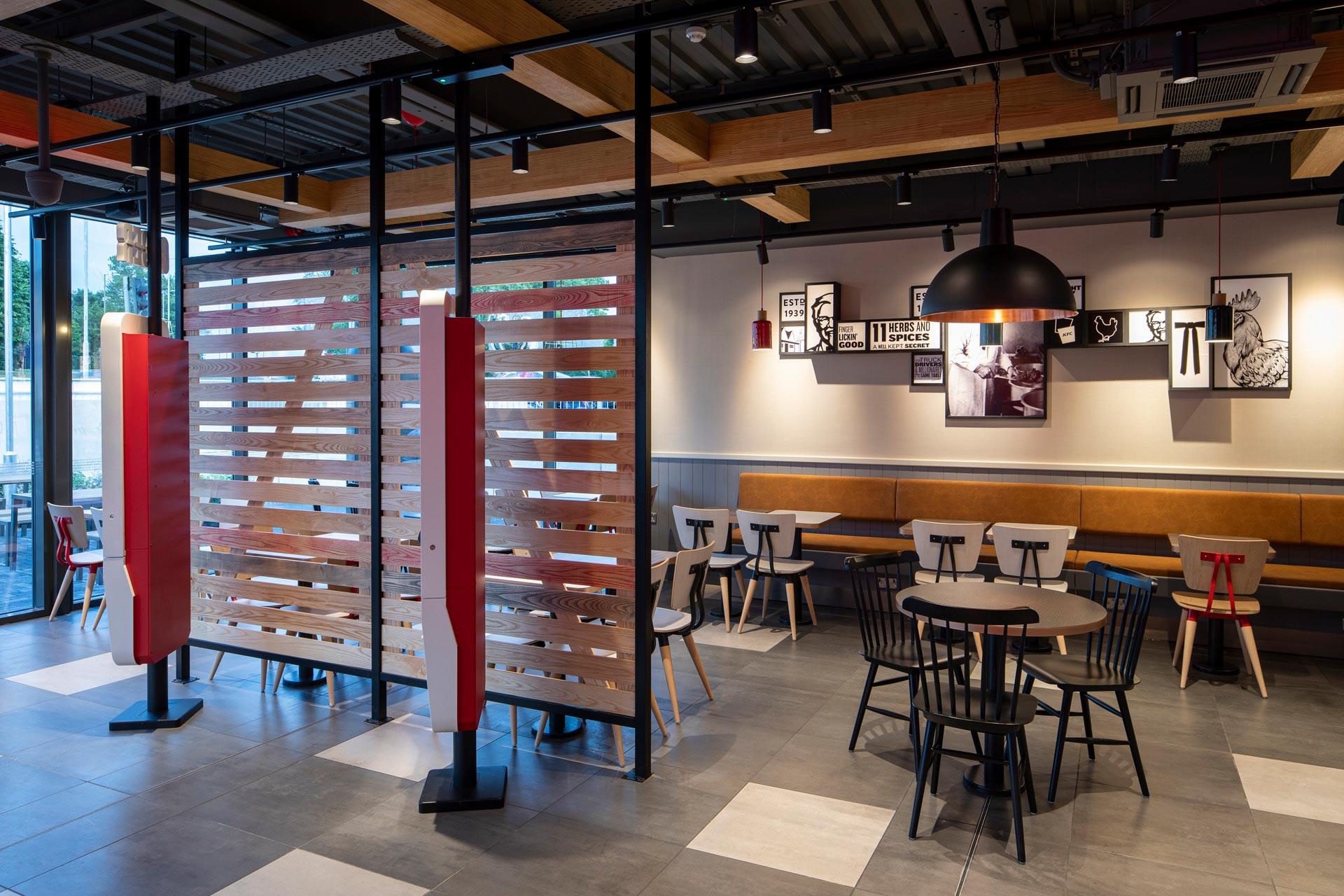 KFC Garston, Liverpool - Modular Restaurant building - Internal dining area