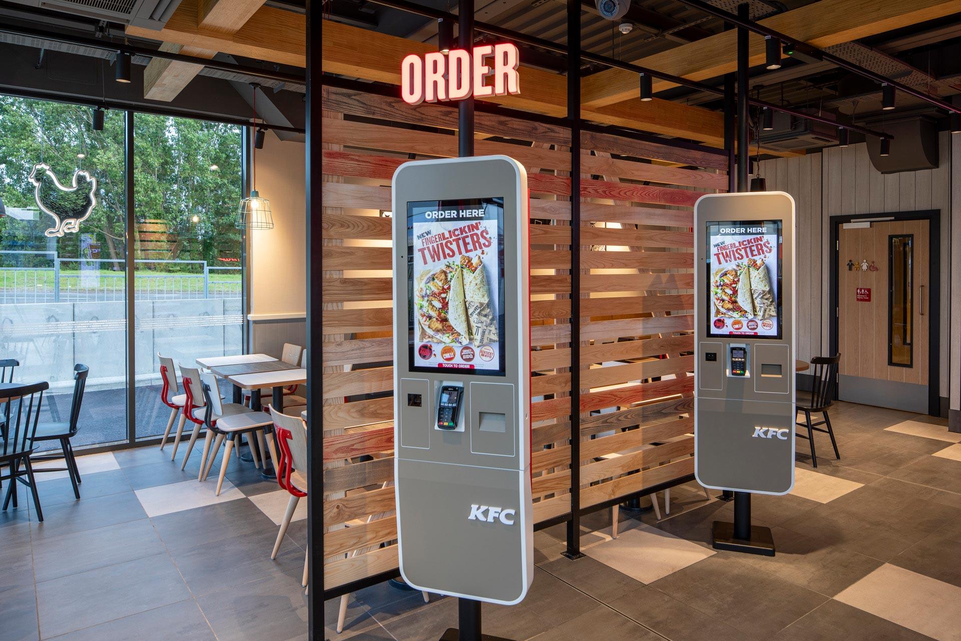 KFC Garston, Liverpool - Modular Restaurant building - Internal ordering kiosks