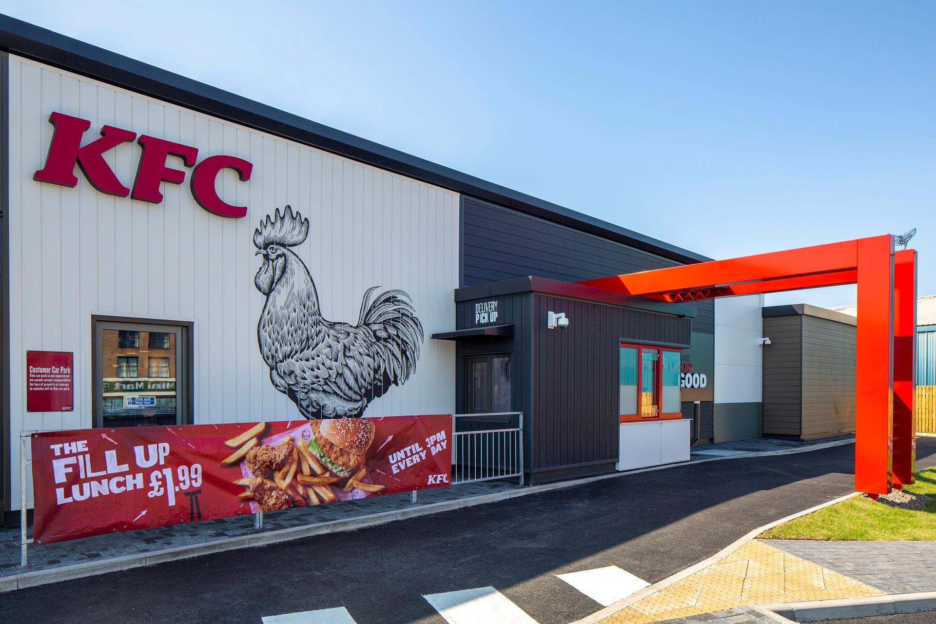 KFC Garston, Liverpool - Modular Restaurant building - Drive thru