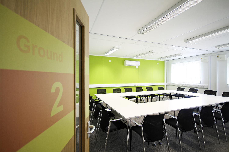 Network Rail modular office building internal meeting room