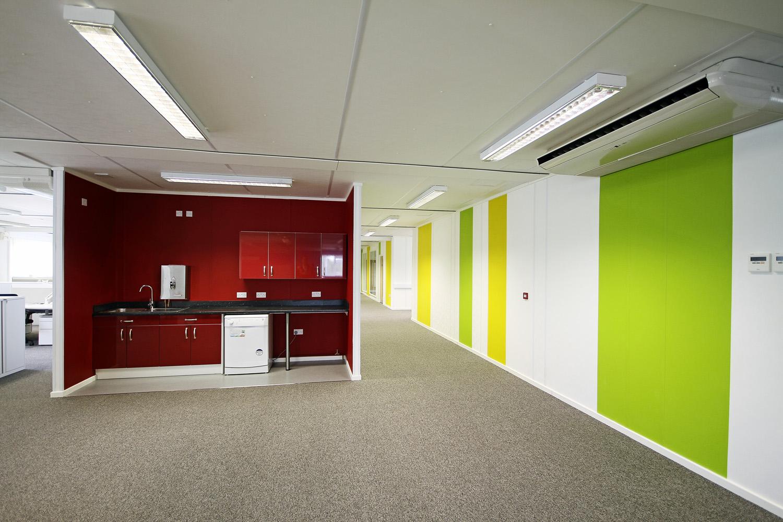 Network Rail modular office building internal offices corridor area
