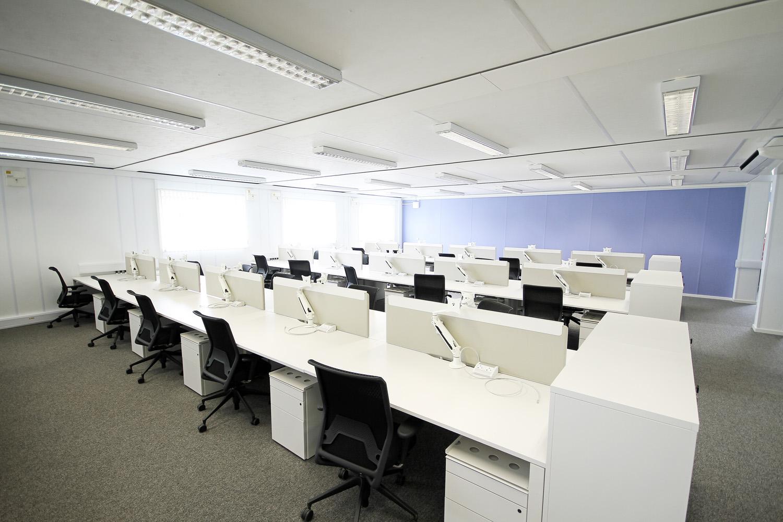 Network Rail modular office building internal offices