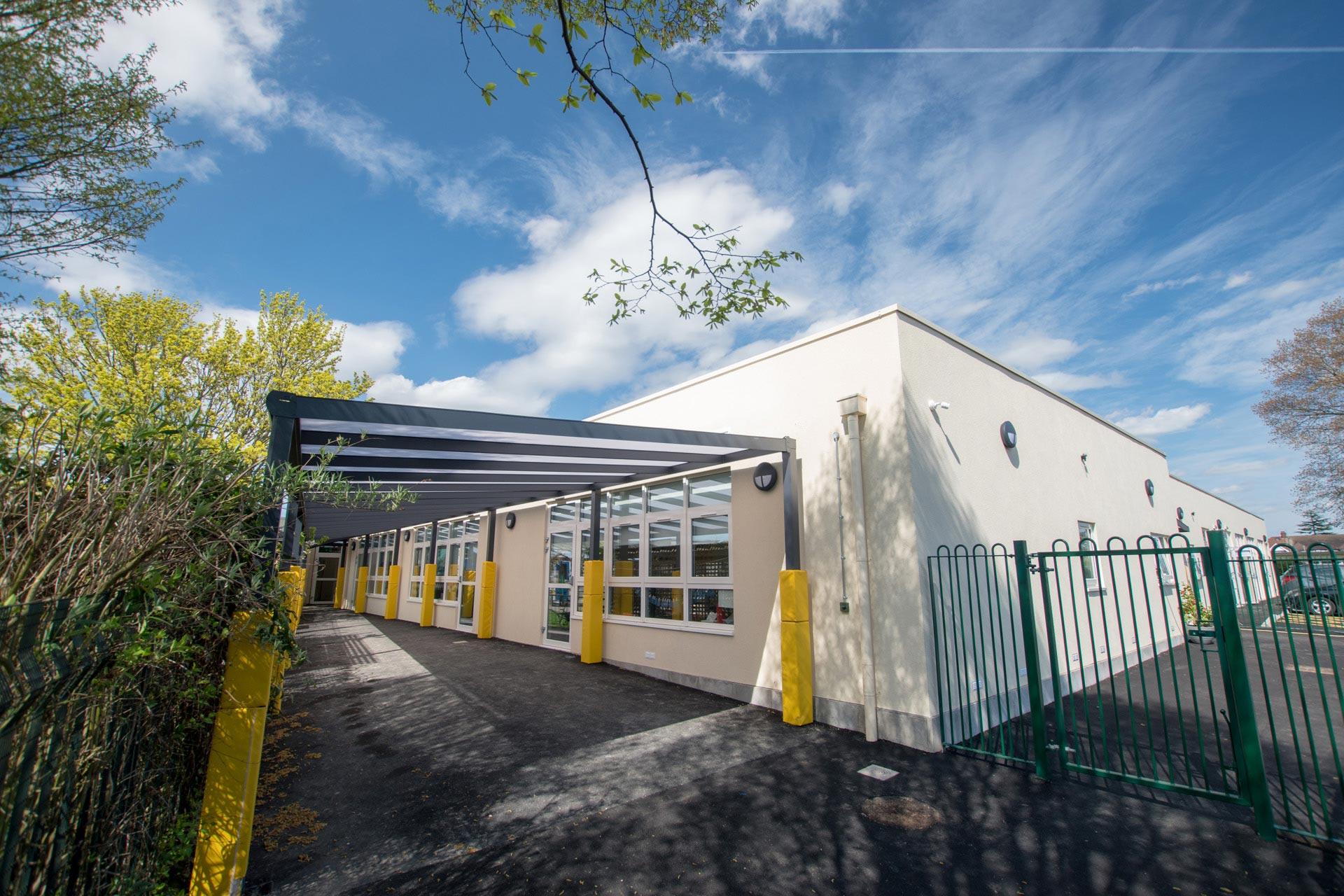 Parkhill Infants and Junior School dining hall Modular school extension