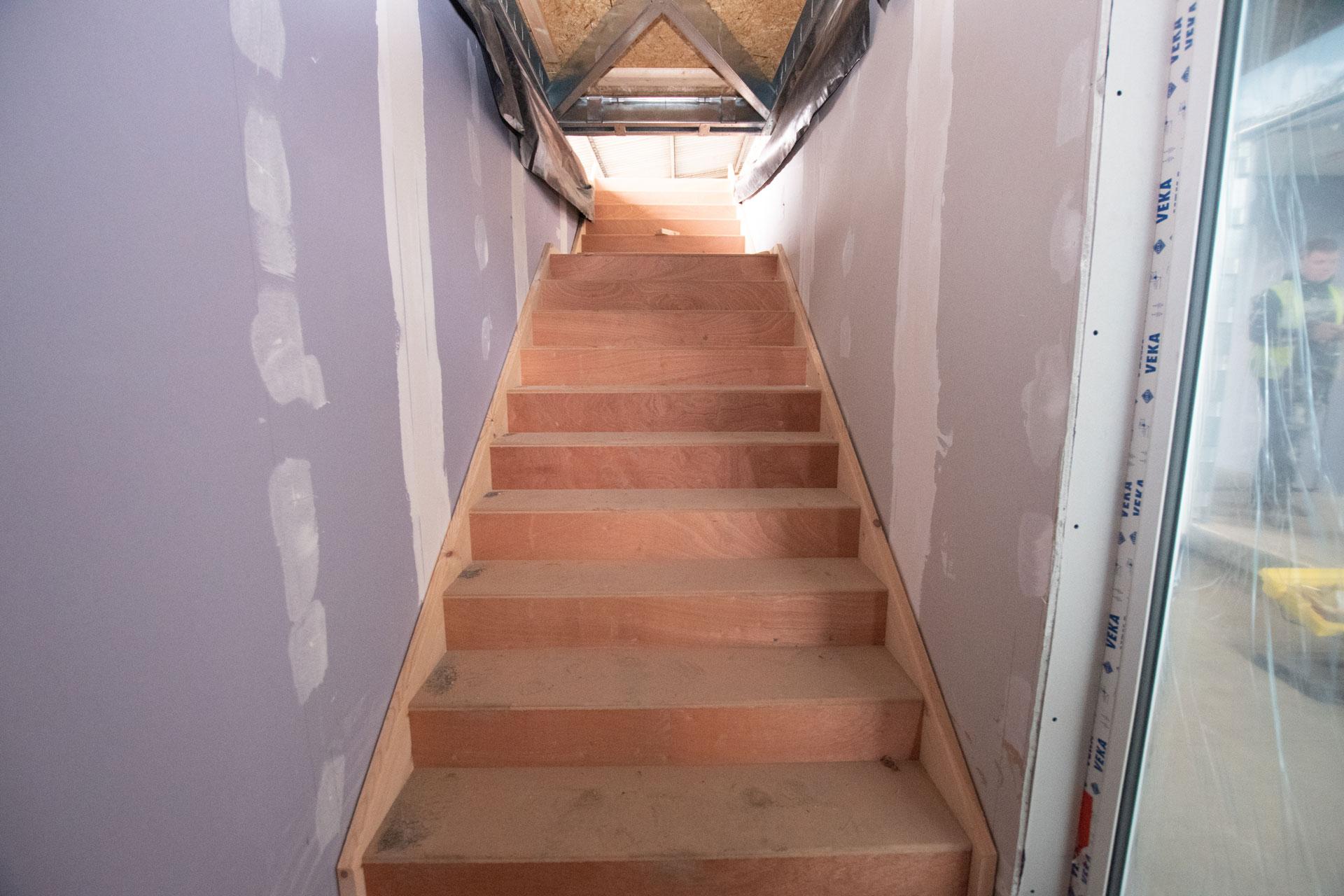 Housing 21 Retirement living modular apartments UK - Richard Onslow Court - Stairway progress