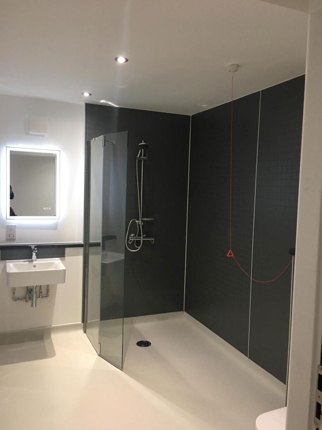 Housing 21 Retirement living modular apartments UK - Richard Onslow Court - Internal bathroom