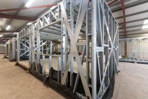 Ward Court modular bungalows M-AR - Steel frame