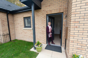 Ward Court modular bungalows M-AR - resident