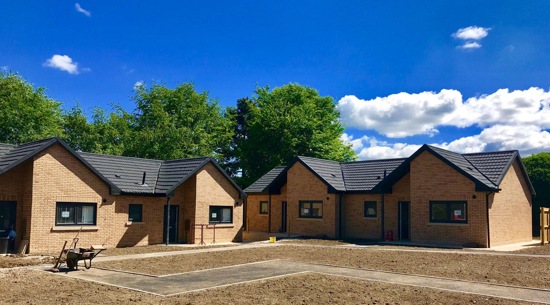 Housing 21 retirement living Modular Bungalows - External progress - Ward Court