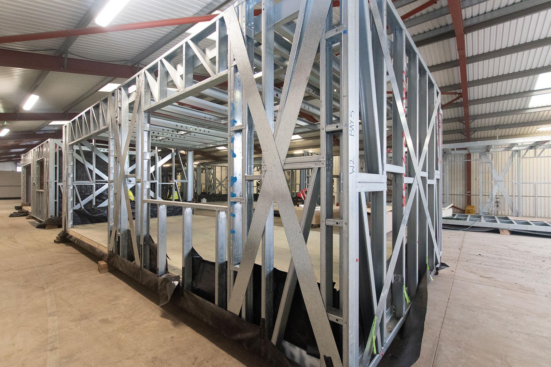Housing 21 retirement living Modular Bungalows - Modular light gauge steel frame - Ward Court