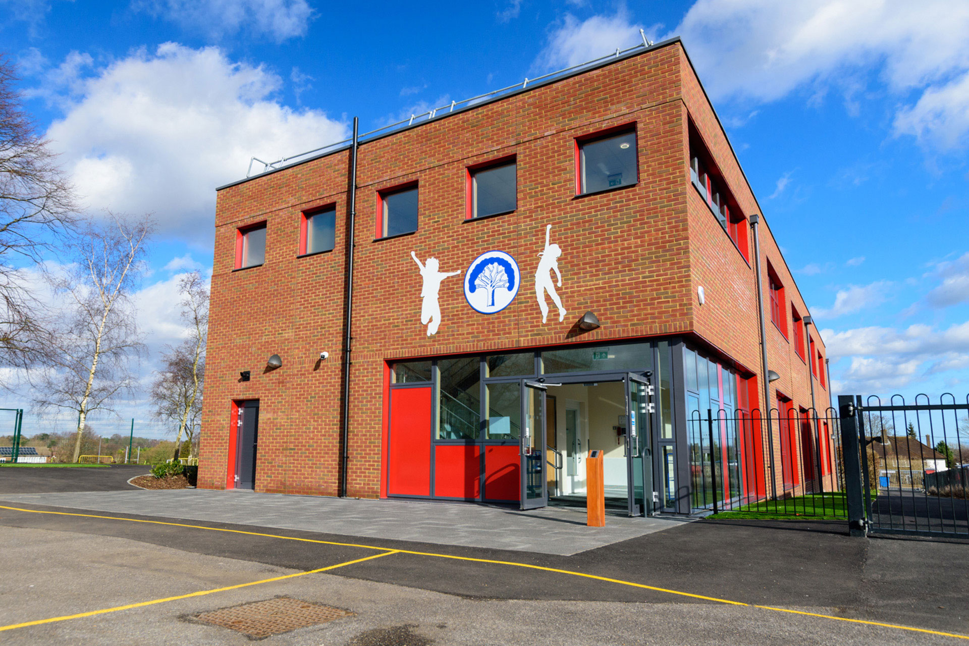 Woodcote Primary school - Modular School expansion - external view - entrance