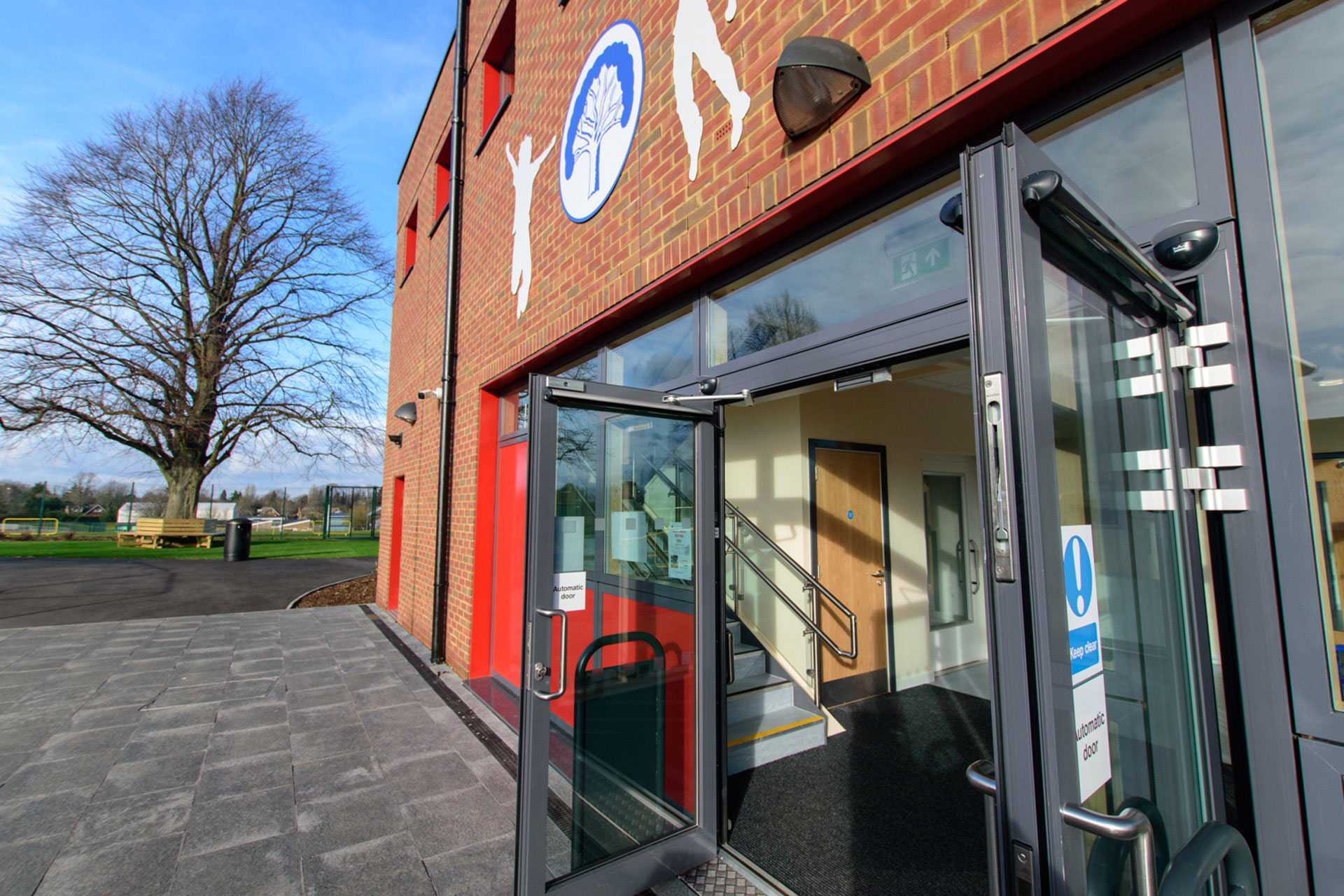 Woodcote Primary school - Modular building - expansion project - external security doors