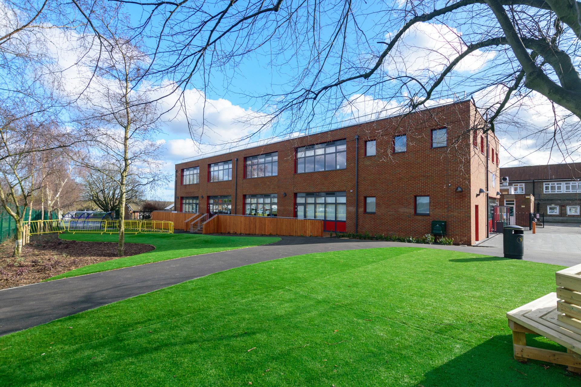 Woodcote Primary school - Modular School expansion - external