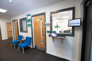 Harrington School - Temporary modular building reception area