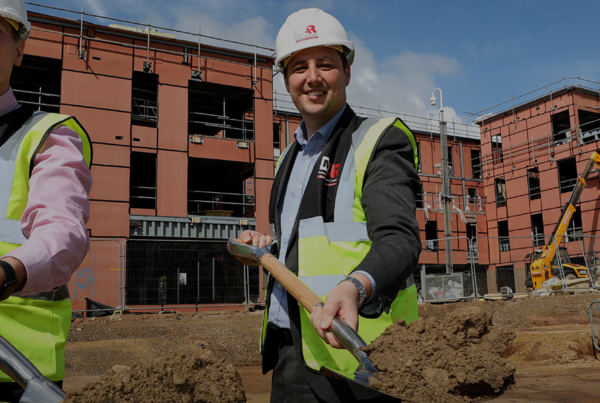 Middlesbrough and Tees Valley mayor breaking ground at BoHo 8 - Modular office project